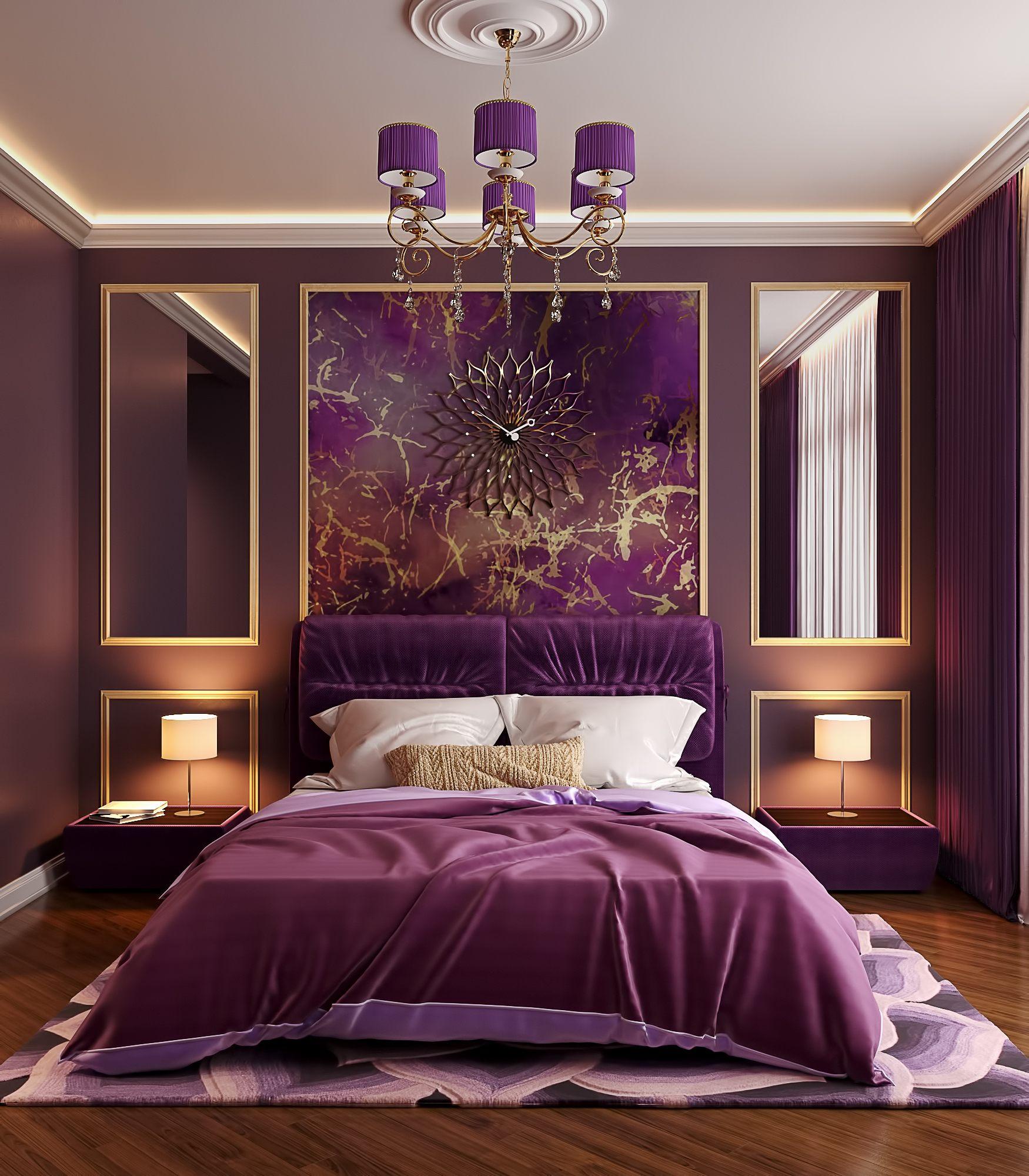 бесплатные смотреть фото фиолетовой спальни в квартире автомобильном